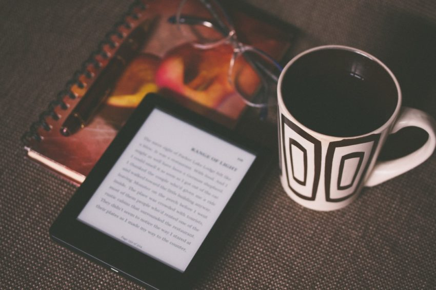 Kindle and coffee